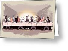 The Cat Supper Greeting Card