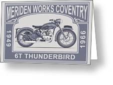 The Classic Thunderbird Motorcycle Greeting Card