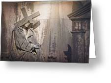 The Crosses We Bear Prazeres Historic Cemetery Lisbon Portugal Greeting Card