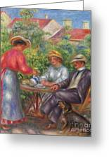 The Cup Of Tea, Or The Garden Greeting Card