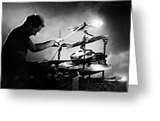 The Drummer Greeting Card by Johan Swanepoel