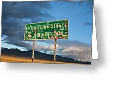 The Extraterrestrial Highway Greeting Card