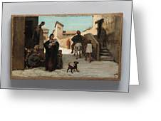 The Fable Of The Miller  His Son  And The Donkey  Greeting Card