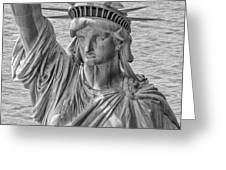 The Face Of Liberty Greeting Card by Rand