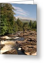 The Falls Of Dochart And Bridge At Killin In Scottish Highlands Greeting Card