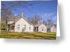 The Farmhouse, Washhouse And Garage Greeting Card