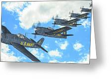 The First Blue Angels - Oil Greeting Card