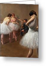 The First Pose, The Ballet Lesson Greeting Card