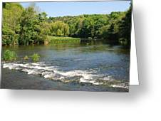 the ford at Etal on river Till Greeting Card