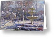 The Frozen Fountain Greeting Card