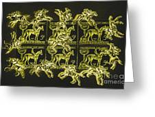 The Golden Race Greeting Card