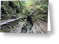 The Gorge Trail Greeting Card