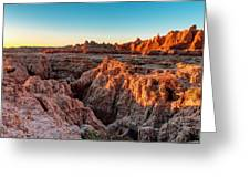 The High And Low Of The Badlands Greeting Card