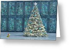 The Hoping Holiday Frog Greeting Card
