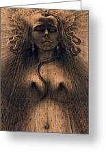 The Idol Of Perversity, 1891 Greeting Card