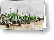 The John Deere Collection Greeting Card by Brad Allen Fine Art