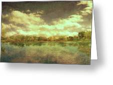 The Lake - Panorama Greeting Card