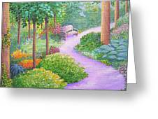The Lilac Path - Rest Awhile Greeting Card