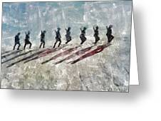 The Long Walk, World War Two Greeting Card