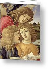 The Madonna Of The Magnificat, Detail Of Three Boys, 1482 Greeting Card