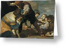 The Massacre Of The Innocents  After       Greeting Card