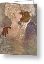 The Mulatto And The Sculpturesque White Woman 1913 Greeting Card