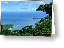 The North Bay As Seen From Mount Harriett Greeting Card