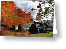 The Number 40 Steam Train In Essex Ct Greeting Card by Jeff Folger