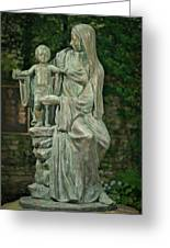 The Offering Statue Greeting Card