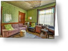The Old Farmhouse Living Room Greeting Card