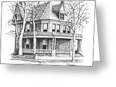 The Old Governors Mansion,  Helena, Montana Greeting Card