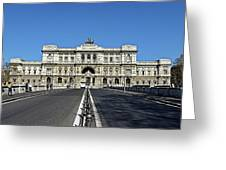 The Palace Of Justice, Rome, Italy Greeting Card