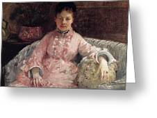 The Pink Dress Also Known As Poop - 1870 - Pc Greeting Card