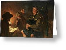 The Pipes By Firelight Greeting Card