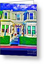 The Prince Albert Guesthouse-provincetown, Massachusetts  Greeting Card