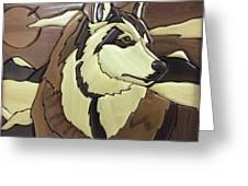 The Proud Husky Greeting Card