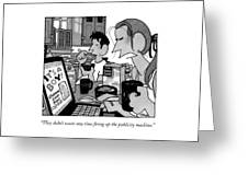 The Publicity Machine Greeting Card