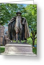 The Puritan Statue Greeting Card