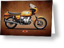 The R90s Motorcycle Greeting Card