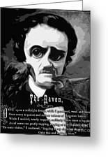 The Raven Edgar Allan Poe Greeting Card