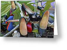 The Red Sole Shoes 4 Greeting Card
