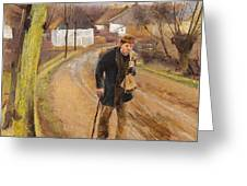 The Road Through The Village Of Ring Greeting Card