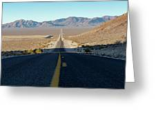 The Road To Death Valley Greeting Card by William Dickman