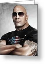 The Rock Dwayne Johnson I I Greeting Card