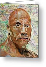 The Rock From California Greeting Card