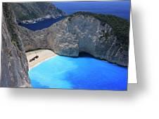 The Shipwreck Beach Zakynthos Greece Greeting Card