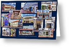 The Shops Of Provincetown Cape Cod Massachusetts Collage Pa Greeting Card