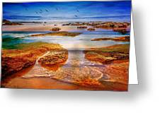 The Silent Morning Tide Greeting Card