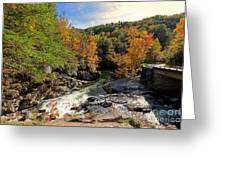 The Sinks On Little River Road In Smoky Mountains National Park Greeting Card