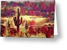 The Sonoran Saguaro  Greeting Card